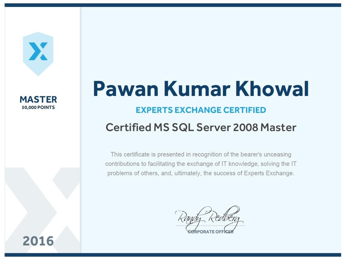 About pawan khowal improving my sql bi skills pawan kumar khowal sql server master xflitez Gallery