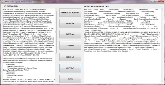 DAX Parameter Replacer and Beautifier - Pic 1