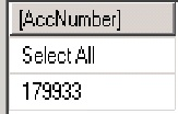Output - Select All with other account Numbers - DAX