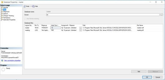 DataFiles in SQL Server