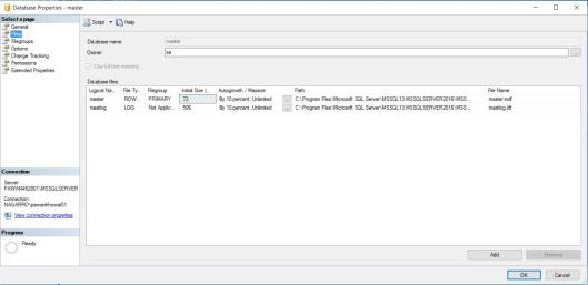 DataFiles in SQL Server