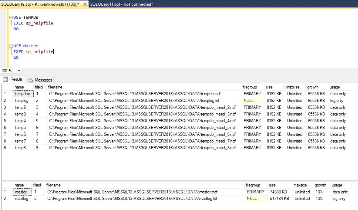 sql interview q s improving my sql bi skills tempdb files data files log files