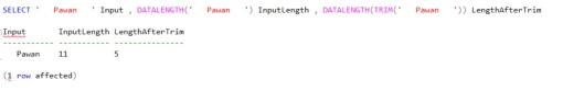 Trim() - Remove LeadingAndTrailingSpaces